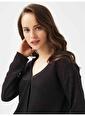 Xint XINT Anvelop Kapamalı Rahat Kesim Bluz Siyah